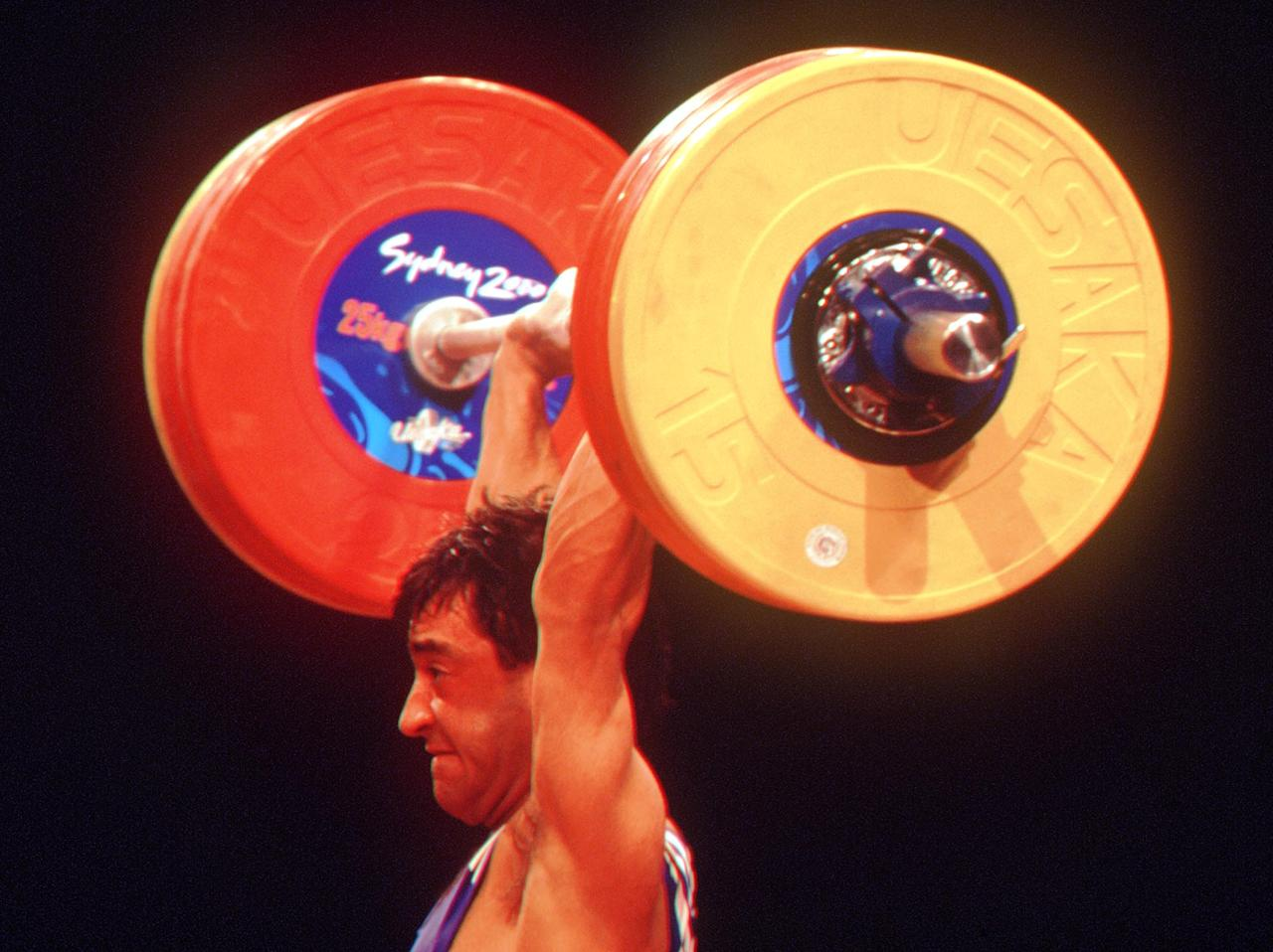 16 Sep 2000:  Ivan Ivanov of Bulgaria in action during the Men's 56Kg Weightlifting in the 2000 Sydney Olympic Games at the Sydney Convention Centre in Sydney, Australia. Mandatory Credit: Gary M. Prior/ALLSPORT