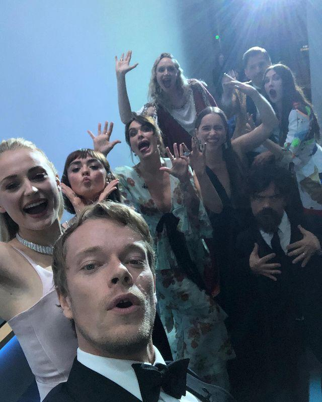 """<p>The Game of Thrones cast got the chance to have a mega reunion at the Emmy awards in September - winning Outstanding Drama Series too - with Allen <a href=""""https://www.elle.com/uk/life-and-culture/culture/a29189899/game-of-thrones-selfie-cast-emmy-awards/"""" rel=""""nofollow noopener"""" target=""""_blank"""" data-ylk=""""slk:posting this epic selfie from backstage to capture the moment."""" class=""""link rapid-noclick-resp"""">posting this epic selfie from backstage to capture the moment.</a></p><p><a href=""""https://www.instagram.com/p/B2xoM_9HfWu/"""" rel=""""nofollow noopener"""" target=""""_blank"""" data-ylk=""""slk:See the original post on Instagram"""" class=""""link rapid-noclick-resp"""">See the original post on Instagram</a></p>"""