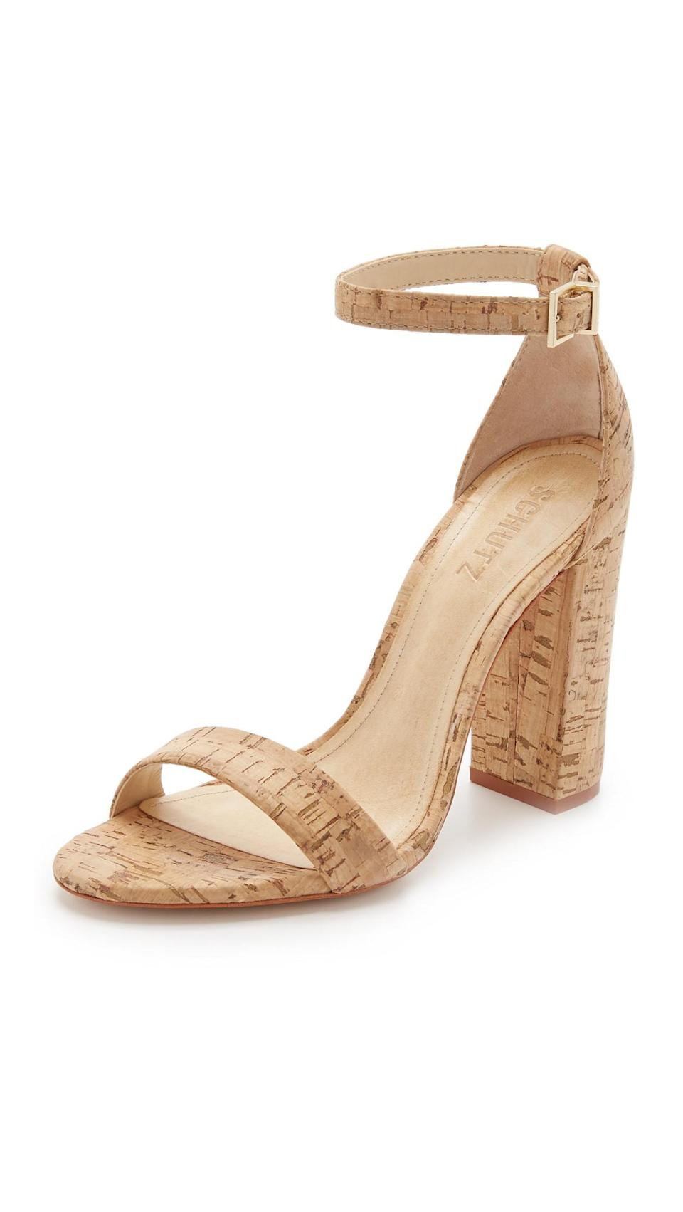 <p>And cork heels are always fun.</p>