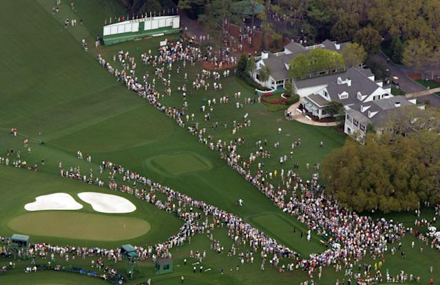 The first tee at Augusta. (AP)