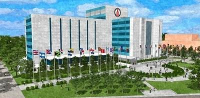 Founders Hall artist rendering – view from Broadway. Courtesy: UIW Campus Planning