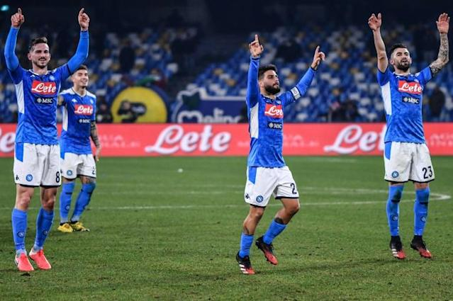 Serie A runners-up Napoli move sixth into the Europa League places. (AFP Photo/Alberto PIZZOLI)