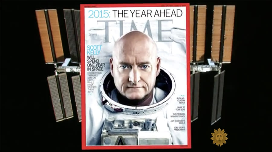 Commander Kelly scored the cover of Time.