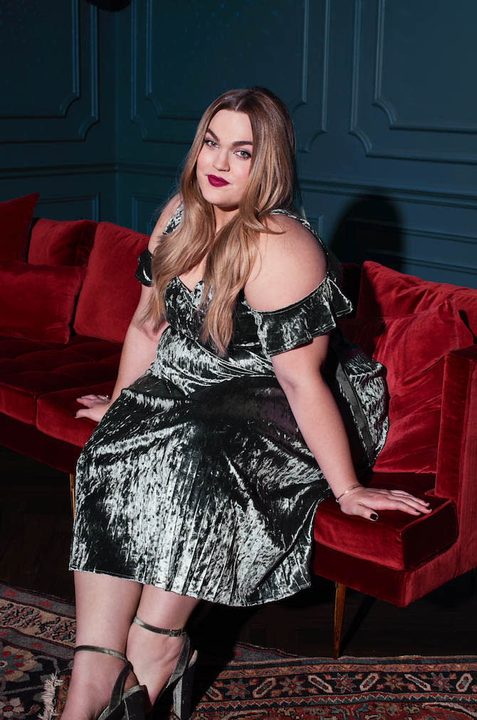 Loey Lane is the face of Conrad's debut plus-size line. (Photo: Courtesy of Lauren Conrad)