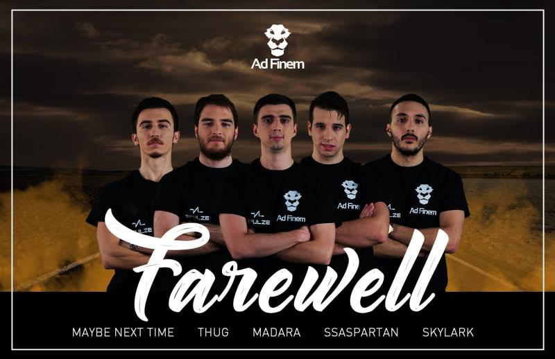 Ad Finem's Dota 2 roster has moved on. (Ad Finem)