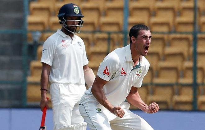Mitchell Starc, Australia, India, Pujara, Second Test
