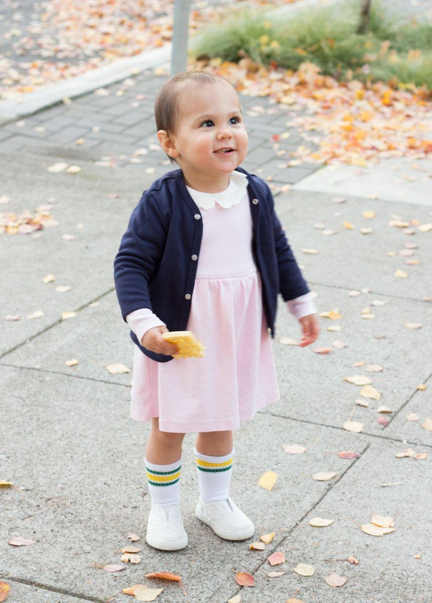 """<p>Even though your baby might be long asleep by the time you settle in to watch <em>Stranger Things, </em>she'll still enjoy wearing a cute pink dress and nibbling on a waffle this Halloween.</p><p><strong>Get the tutorial at <a href=""""http://www.meganjoy.ca/2017/10/27/diy-baby-eleven-costume-stranger-things/"""" rel=""""nofollow noopener"""" target=""""_blank"""" data-ylk=""""slk:Megan Joy"""" class=""""link rapid-noclick-resp"""">Megan Joy</a>. </strong></p><p><a class=""""link rapid-noclick-resp"""" href=""""https://www.amazon.com/Lilax-Sleeve-Classic-Cardigan-Sweater/dp/B06XBQHG8Y/?tag=syn-yahoo-20&ascsubtag=%5Bartid%7C10050.g.29398849%5Bsrc%7Cyahoo-us"""" rel=""""nofollow noopener"""" target=""""_blank"""" data-ylk=""""slk:SHOP BLUE CARDIGANS"""">SHOP BLUE CARDIGANS</a></p>"""