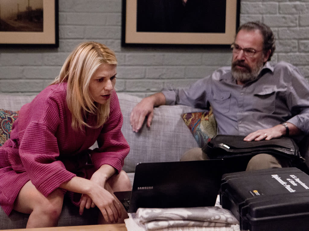 "Claire Danes as Carrie Mathison and Mandy Patinkin as Saul Berenson in the ""Homeland"" Season 2 episode, ""State of Independence."""