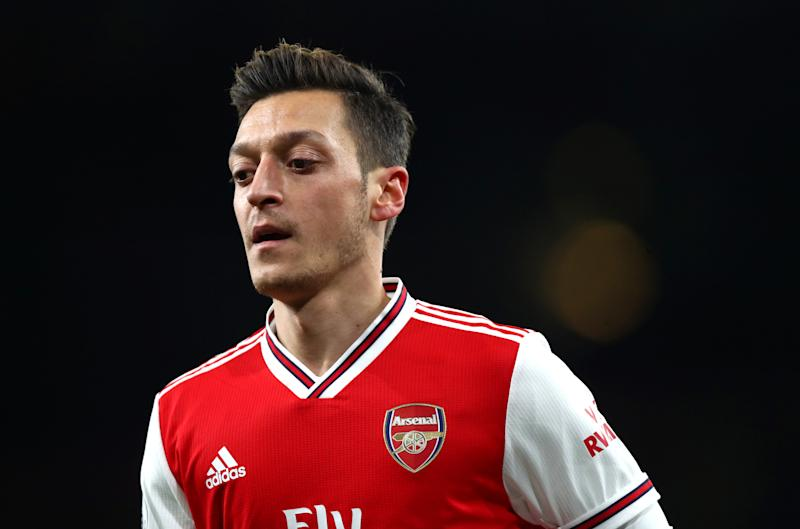 LONDON, ENGLAND - DECEMBER 05: Mesut Ozil of Arsenal during the Premier League match between Arsenal FC and Brighton & Hove Albion at Emirates Stadium on December 05, 2019 in London, United Kingdom. (Photo by Chloe Knott - Danehouse/Getty Images)