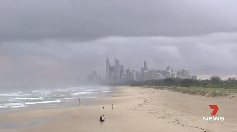 Storm clouds seen on the Gold Coast.