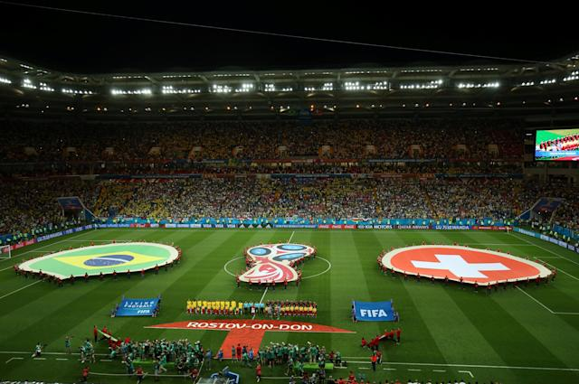 Soccer Football - World Cup - Group E - Brazil vs Switzerland - Rostov Arena, Rostov-on-Don, Russia - June 17, 2018 General view before the match REUTERS/Jason Cairnduff