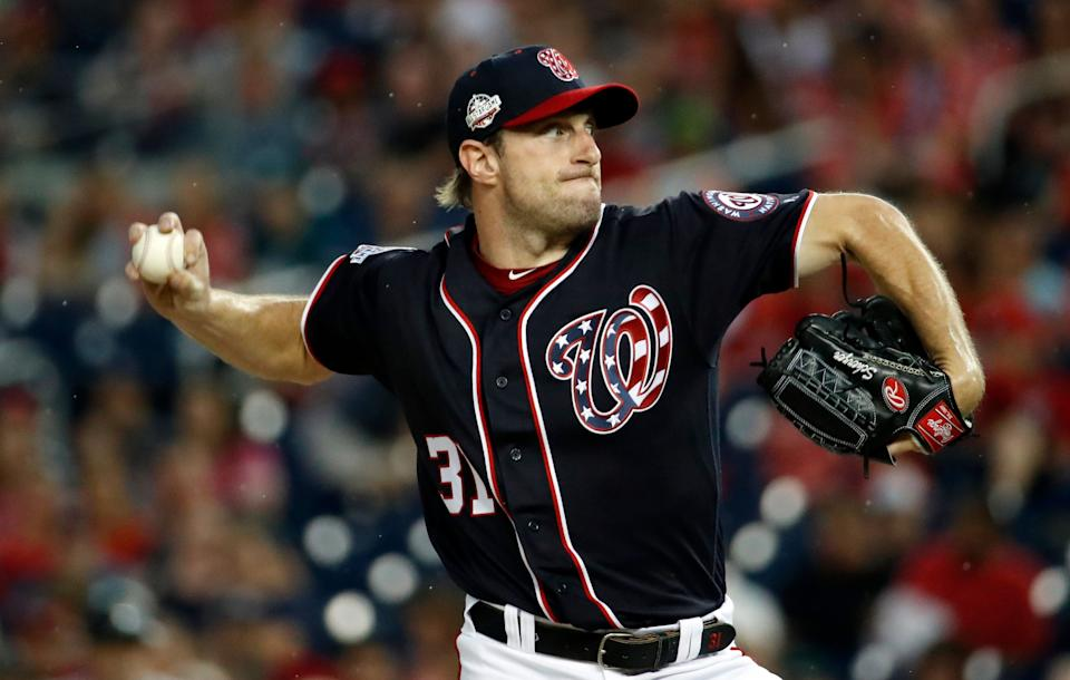 Nationals ace Max Scherzer top our opening day rankings for the second consecutive season. (AP Photo/Alex Brandon)