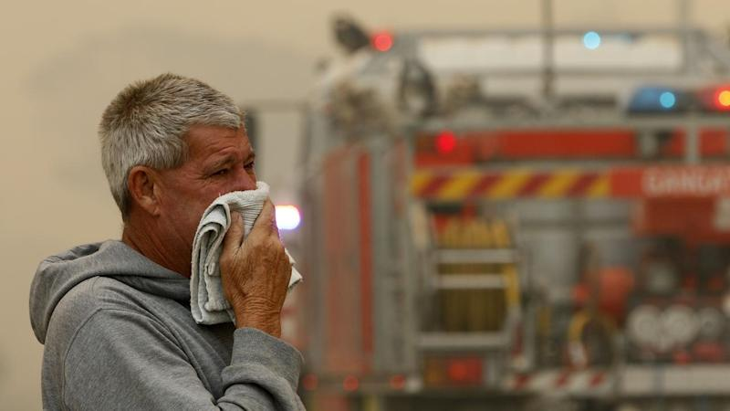 Conditions have eased for now and firefighters are desperately trying to control NSW bushfires,