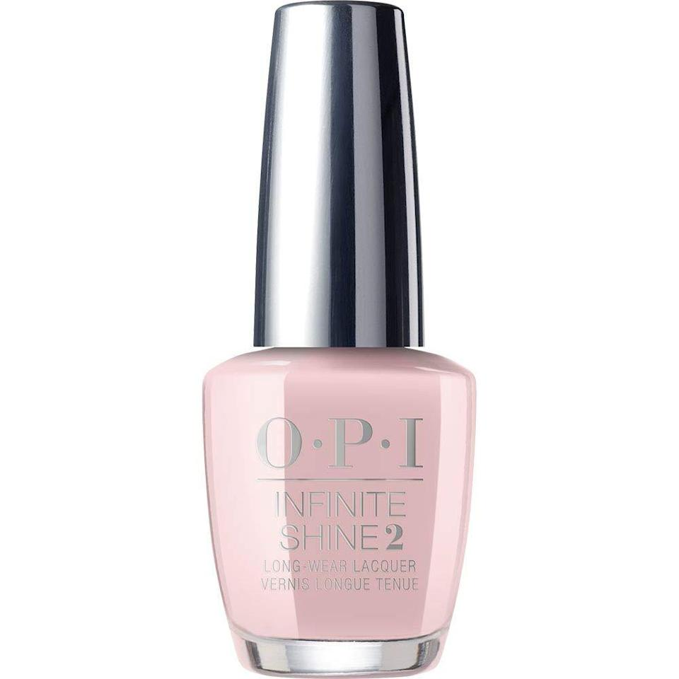 "<h3><strong>Baby Pink</strong></h3> <br>A <a href=""https://www.refinery29.com/en-us/light-pink-nail-polish"" rel=""nofollow noopener"" target=""_blank"" data-ylk=""slk:light-pink manicure"" class=""link rapid-noclick-resp"">light-pink manicure</a> feels so right for this time of year — it's essentially the nail polish version of a quick refresh between your <a href=""https://www.refinery29.com/en-us/2020/05/9804669/daisy-nail-art-design-tutorial"" rel=""nofollow noopener"" target=""_blank"" data-ylk=""slk:trendy daisy art"" class=""link rapid-noclick-resp"">trendy daisy art</a> and rainbow <a href=""https://www.refinery29.com/en-us/2020/04/9644701/quarantine-nails-at-home-manicure-trend"" rel=""nofollow noopener"" target=""_blank"" data-ylk=""slk:quarantine manicure"" class=""link rapid-noclick-resp"">quarantine manicure</a>. ""Everyone needs a grab-and-go neutral sheer polish,"" says nail pro Michelle Saunders. That's precisely why we're wearing all of OPI's <a href=""https://www.refinery29.com/en-us/wedding-nail-designs-ideas"" rel=""nofollow noopener"" target=""_blank"" data-ylk=""slk:bridal-inspired"" class=""link rapid-noclick-resp"">bridal-inspired</a> neutrals — like this pale pink — on repeat.<br><br><strong>OPI</strong> OPI Nail Polish, Baby Take a Vow, Nail Lacquer, $, available at <a href=""https://www.amazon.com/OPI-Nail-Lacquer-Bare-Soul/dp/B07NT4HS84"" rel=""nofollow noopener"" target=""_blank"" data-ylk=""slk:Amazon"" class=""link rapid-noclick-resp"">Amazon</a><br>"