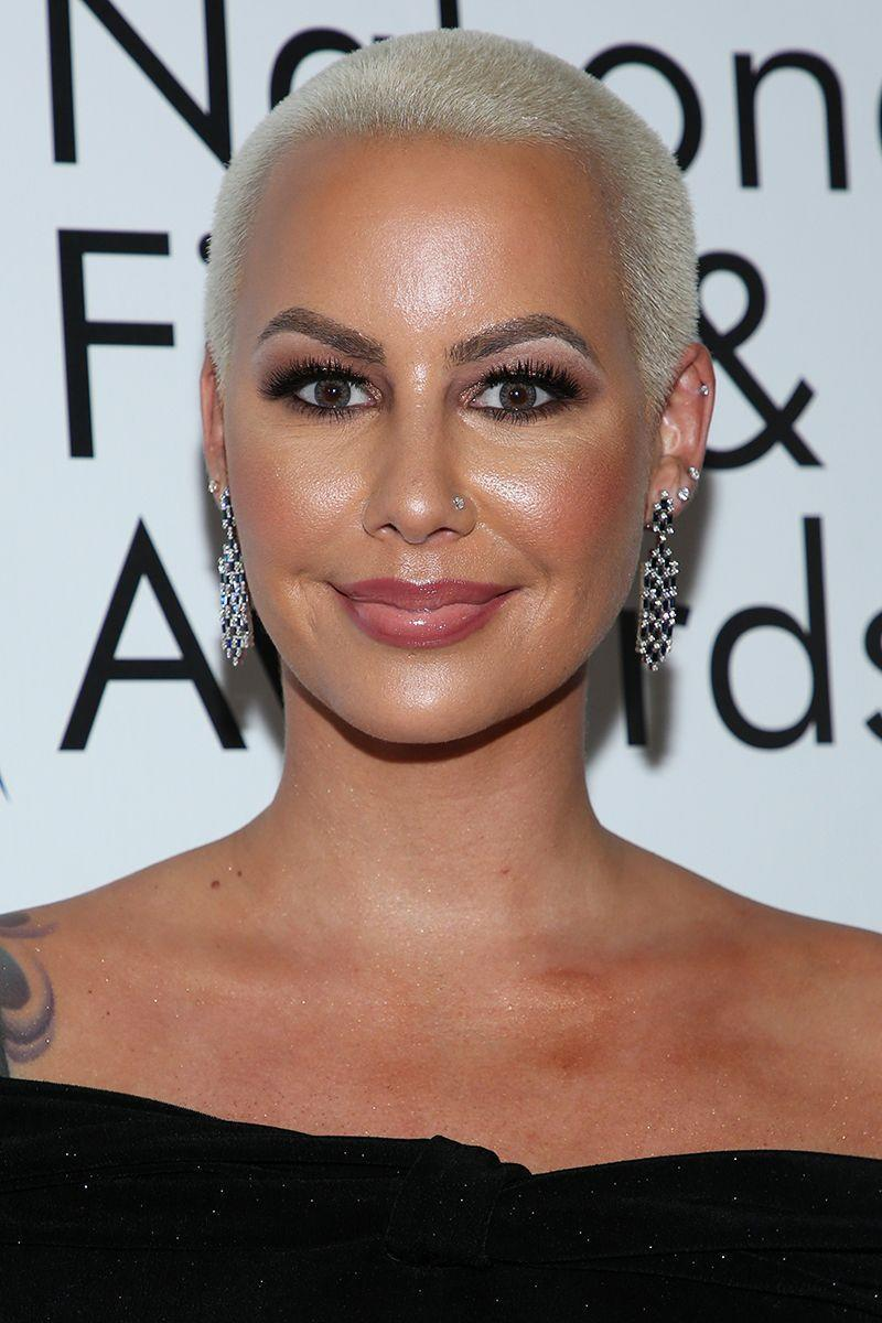 <p>Amber Rose's near platinum blonde buzzcut is an edgier take on a pixie cut that we absolutely love. </p>