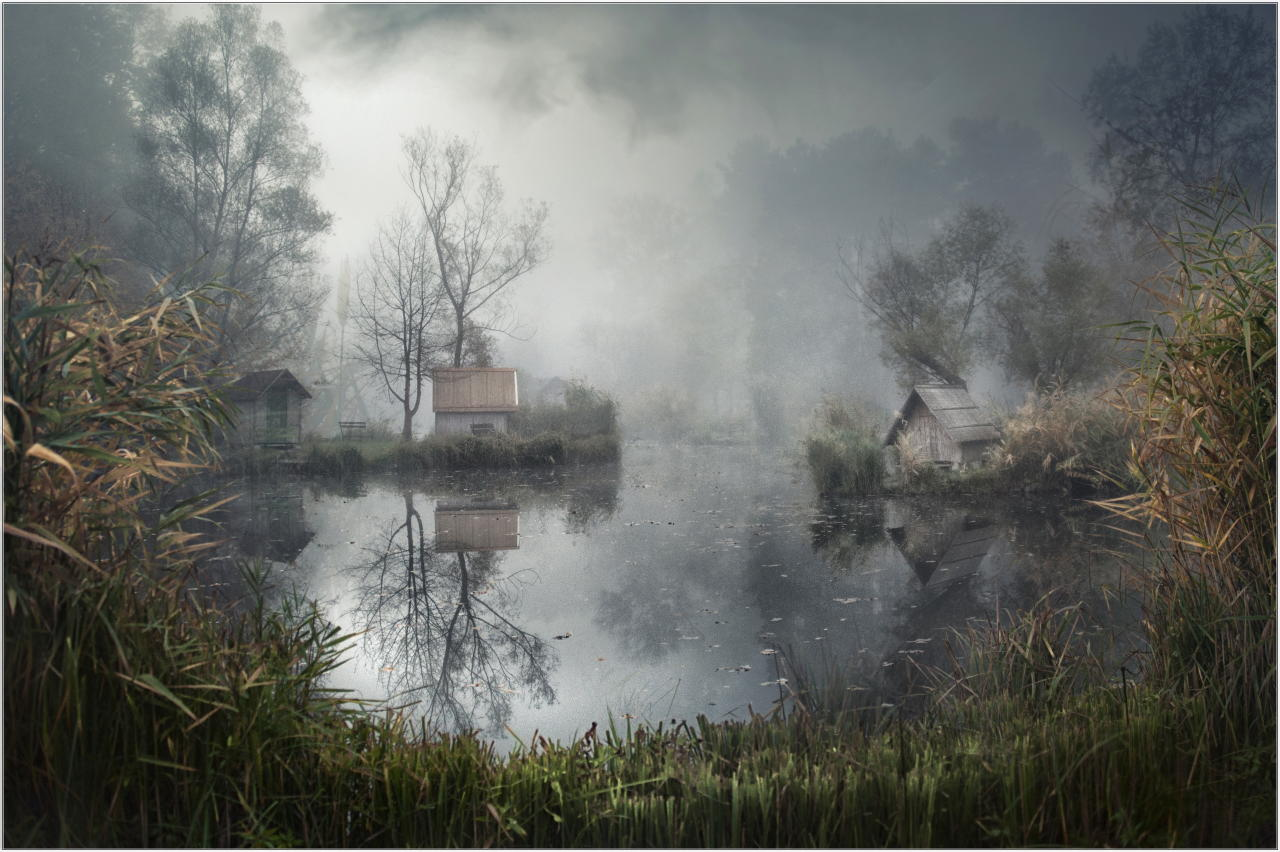 <p>In Szigliget, a small village in wewstern Hungary, a remote, foggy lake is perfectly captured in this eerie composition. (Gabor Dvornik/ILPOTY) </p>