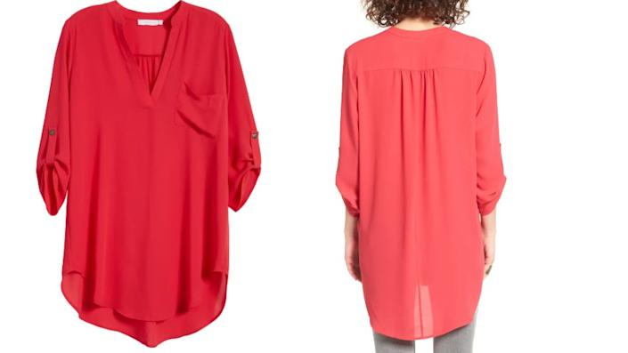 All in Favor's Perfect Roll Tab Sleeve Tunic - Nordstrom, $19 (originally $42)