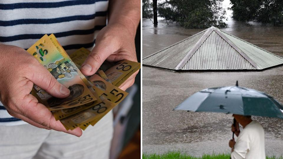 The floods have engulfed several NSW regions. Images: Getty.