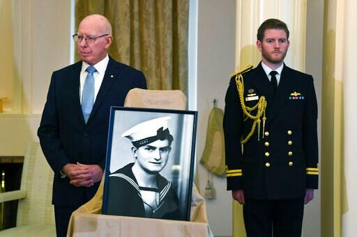 Australian sailor honored 77 years after he died saving crew