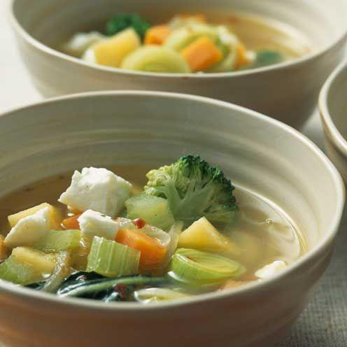 """<p>A simple soup that is great for lunch or dinner</p><p><strong>Recipe: <a href=""""https://www.goodhousekeeping.com/uk/food/recipes/a535992/winter-soup-with-feta/"""" rel=""""nofollow noopener"""" target=""""_blank"""" data-ylk=""""slk:Winter Soup with Feta"""" class=""""link rapid-noclick-resp"""">Winter Soup with Feta</a></strong></p>"""