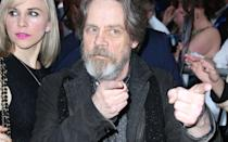 Mark Hamill took a break from shooting 'Star Wars 8′ to attend the glitzy event. Credit: PA