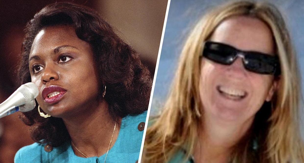 Anita Hill and Christine Blasey Ford. (Photos: Greg Gibson/AP, Facebook)
