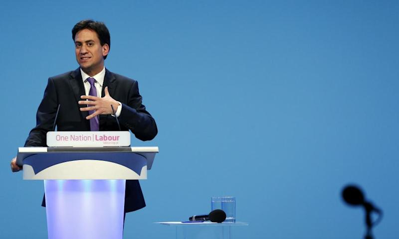 Former Labour party leader Ed Miliband.