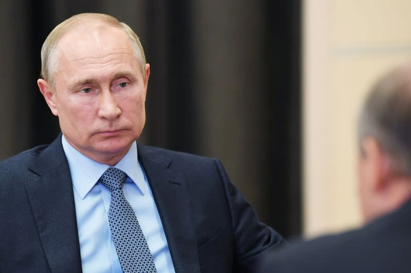 Russia's Putin protected from coronavirus by disinfection tunnels
