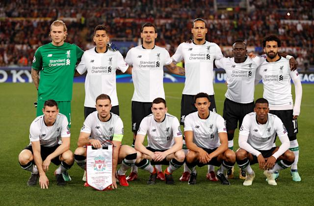Soccer Football - Champions League Semi Final Second Leg - AS Roma v Liverpool - Stadio Olimpico, Rome, Italy - May 2, 2018 Liverpool team group Action Images via Reuters/John Sibley