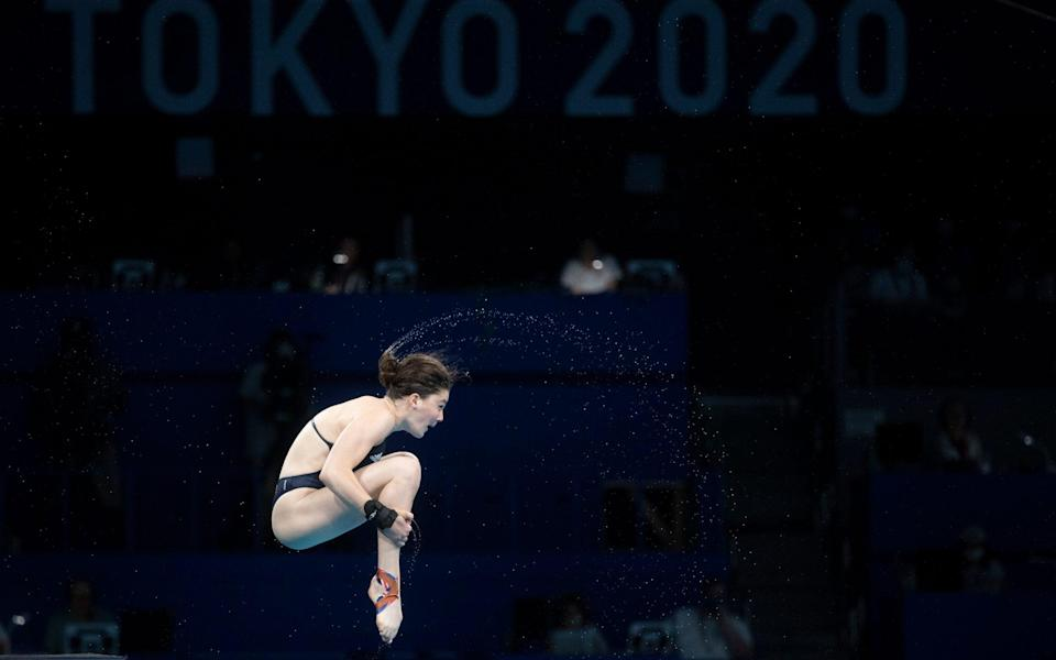 Andrea Spendolini-Sirieix gave a good account of herself in the women's 10m diving platform final - PAUL GROVER FOR THE TELEGRAPH