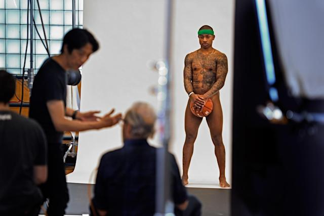 A behind-the-scenes look at Isaiah Thomas' ESPN the Magazine photo shoot. (Photo via Mahala Gaylord)