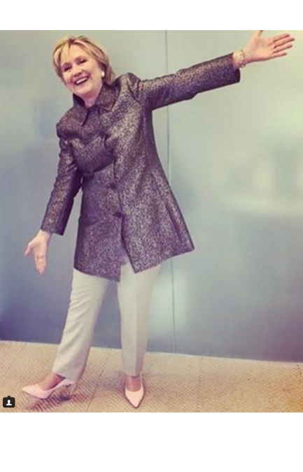 Hillary Clinton Models Some Surprising New Footwear