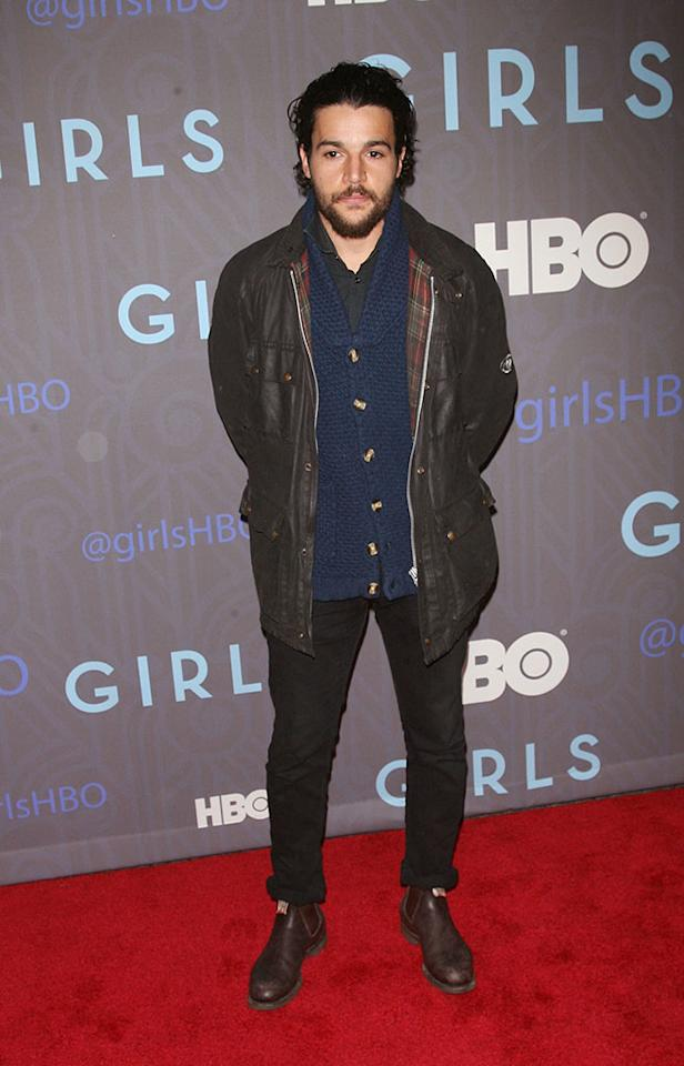"Christopher Abbott attends HBO's premiere of ""Girls"" Season 2 at the NYU Skirball Center on January 9, 2013 in New York City."