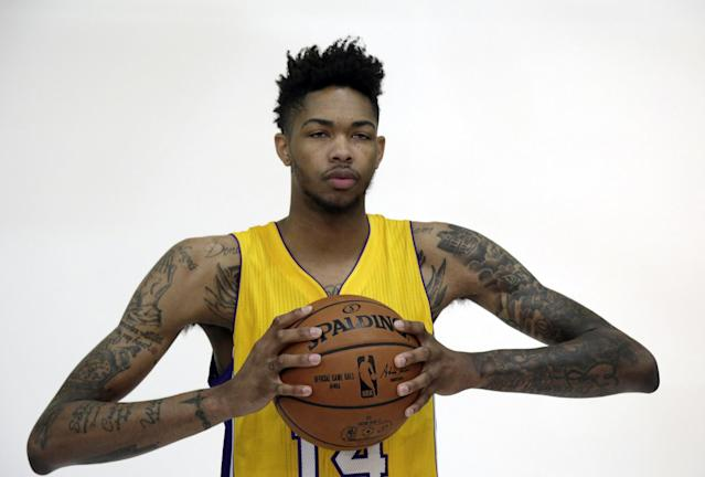 Lakers fans hope No. 2 overall pick Brandon Ingram can become L.A.'s newest star. (AP)