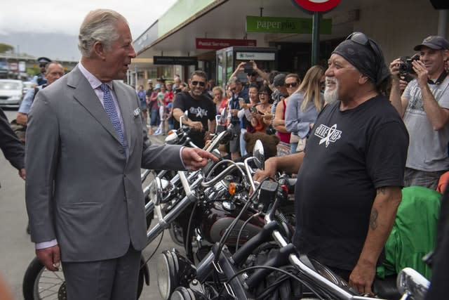 Charles talks with the White Ribbon Riders