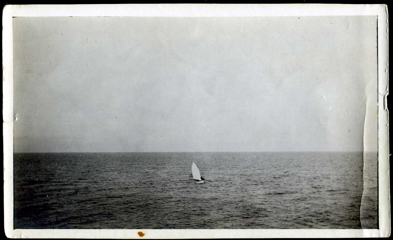 "Survivors from the Titanic are pictured here in a lifeboat rowing towards rescue ship the Carpathia.<br><div style=""color:#000000;background-color:transparent;text-align:left;text-decoration:none;""><br></div>(Photo courtesy of <a target=""_blank"" href=""http://www.weissauctions.com/"">Phillip Weiss Auctions</a>)"