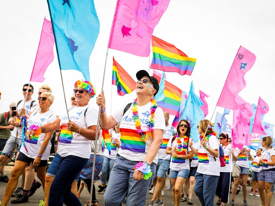 Attendees at Brighton Pride in 2019 (Getty Images)