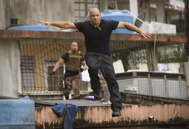 Shape of things to come...? Johnson & Diesel in 2011's 'Fast & Furious 5' (credit: Universal)