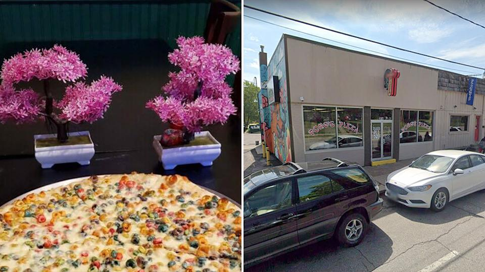 Fong's on Forest has released a Froot Loops pizza. Source: Fong's on Forest/Google Maps