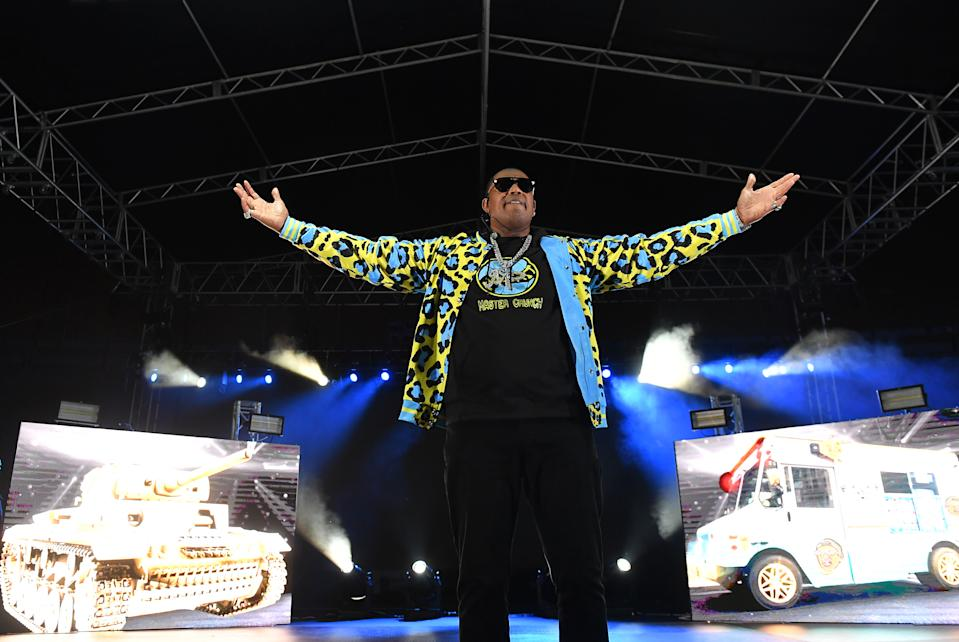 Rapper Master P performs onstage during his No Limit Reunion Tour during 2020 Funkfest at Legion Field on November 07, 2020 in Birmingham, Alabama. (Paras Griffin/Getty Images)