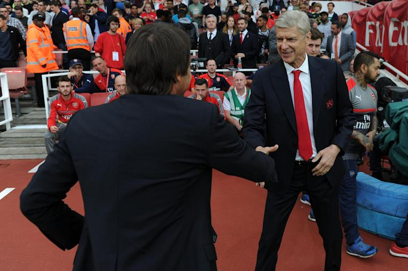 Cheeky: Wenger declared that 'there is only one club in London': Arsenal FC via Getty Images
