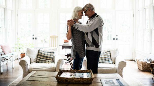 PHOTO: An elderly couple embrace in this stock photo. (STOCK PHOTO/Getty Images)