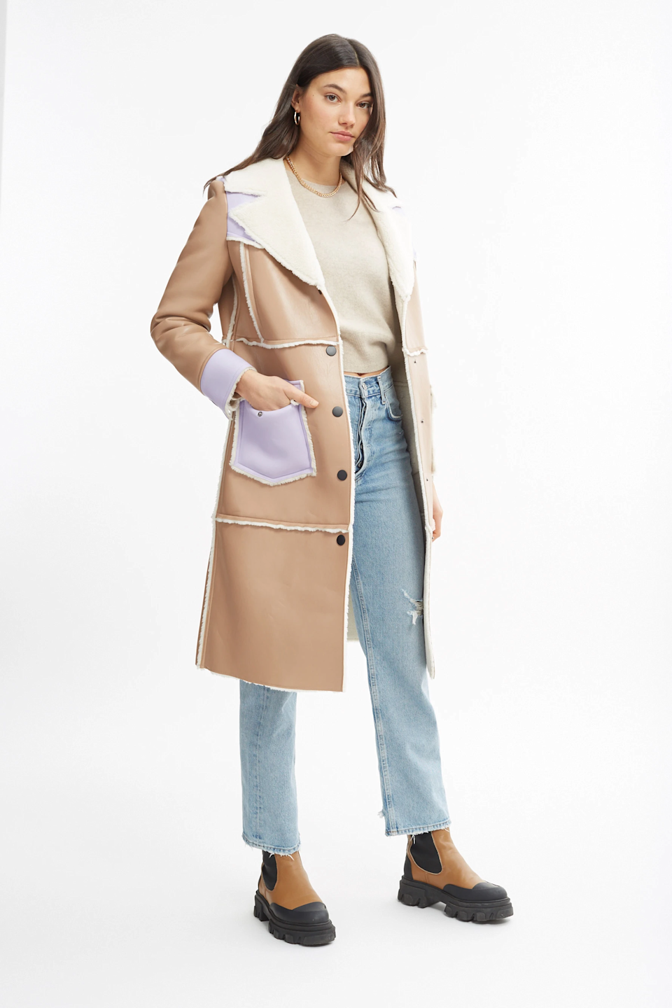 """<br><br><strong>Stand Studio</strong> Adele Coat, $, available at <a href=""""https://go.skimresources.com/?id=30283X879131&url=https%3A%2F%2Fwww.bandier.com%2Fproducts%2Fadele-coat-brown"""" rel=""""nofollow noopener"""" target=""""_blank"""" data-ylk=""""slk:Bandier"""" class=""""link rapid-noclick-resp"""">Bandier</a>"""