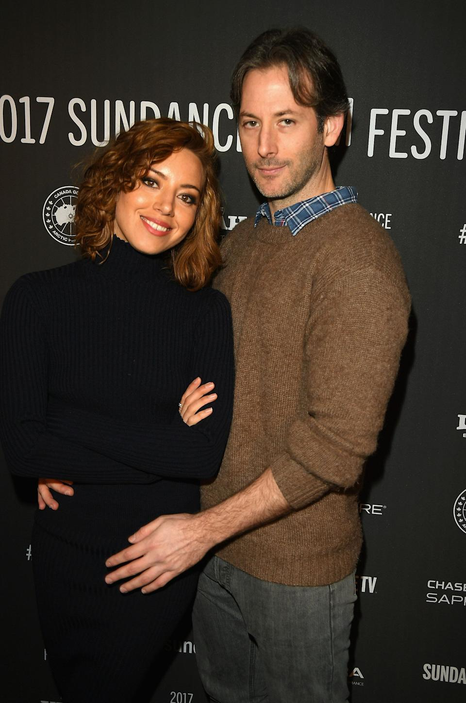 """Aubrey Plaza and Jeff Baena attend """"The Little Hours"""" premiere in 2017. (Photo: George Pimentel via Getty Images)"""