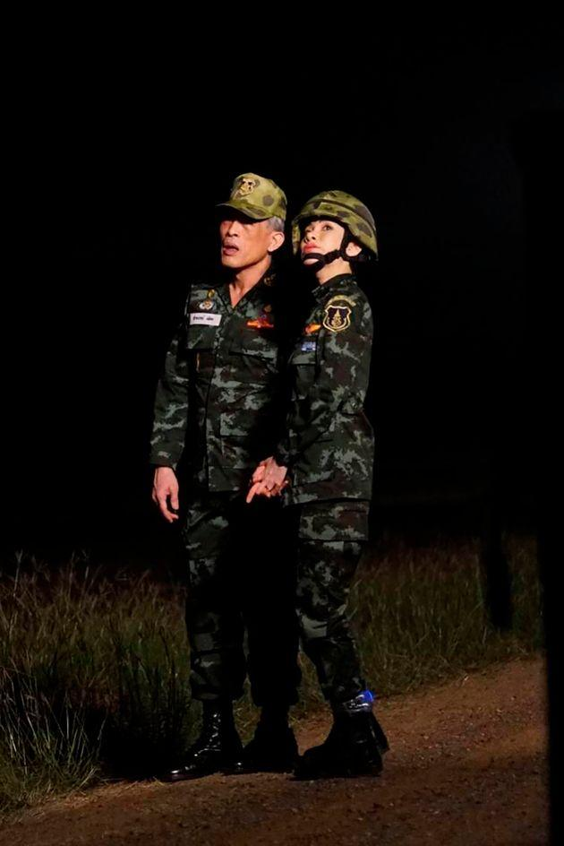 She appeared in a series of unprecedented pictures alongside King Maha Vajiralongkorn and the royal poodle