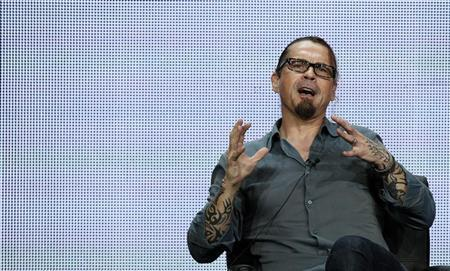 """Creator and Executive Producer Sutter speaks at panel for television series """"Sons of Anarchy"""" during the FX portion of Television Critics Association Summer press tour in Beverly Hills"""