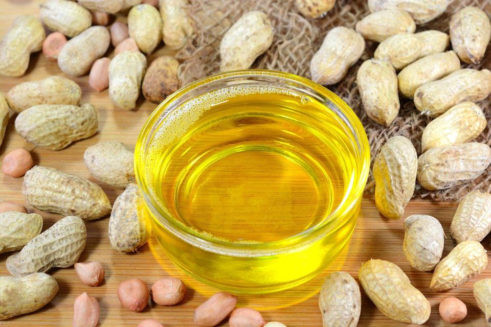 "<p>Peanut oil is similar to vegetable oil in that it is great for a lot of different uses and has a high smoke point (around 450˚F). Peanut oil is a particularly popular choice for deep-frying. If you're making a deep-fried dish that calls for vegetable oil, like these <a href=""https://www.thepioneerwoman.com/food-cooking/recipes/a34226632/lemon-pepper-shoestring-fries/"" rel=""nofollow noopener"" target=""_blank"" data-ylk=""slk:Lemon-Pepper Shoestring Fries"" class=""link rapid-noclick-resp"">Lemon-Pepper Shoestring Fries</a>, and you're running low, peanut oil would be a great substitute.</p><p><strong><a class=""link rapid-noclick-resp"" href=""https://www.amazon.com/s?k=kitchen+spiders&ref=nb_sb_noss_1&tag=syn-yahoo-20&ascsubtag=%5Bartid%7C2164.g.35886374%5Bsrc%7Cyahoo-us"" rel=""nofollow noopener"" target=""_blank"" data-ylk=""slk:SHOP KITCHEN SPIDERS"">SHOP KITCHEN SPIDERS</a></strong></p>"