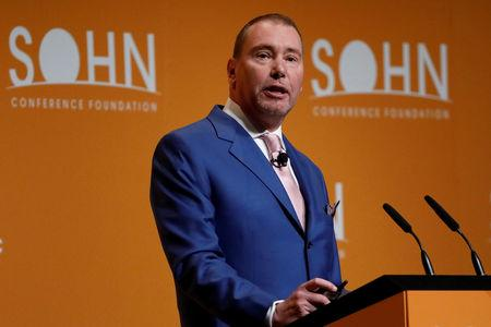 FILE PHOTO: Jeffrey Gundlach, CEO of DoubleLine Capital, speaks during the Sohn Investment Conference in New York