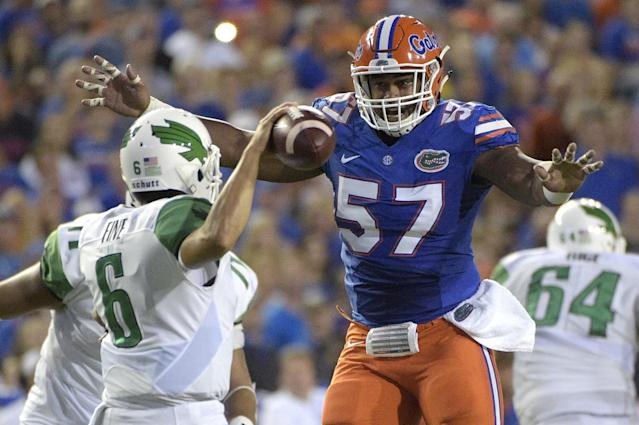 Florida defensive tackle Caleb Brantley can penetrate well but doesn't always perform. (AP)