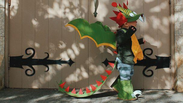 PHOTO: Danielle Bevens' son wears a dragon costume. (Danielle Bevens)